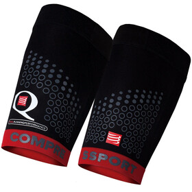 Compressport Trail - Calentadores - rojo/negro